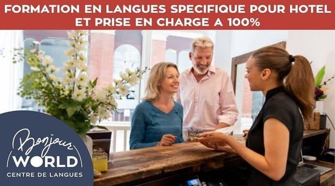 Hôtel : formations en langues prises à 100% pour vos équipes