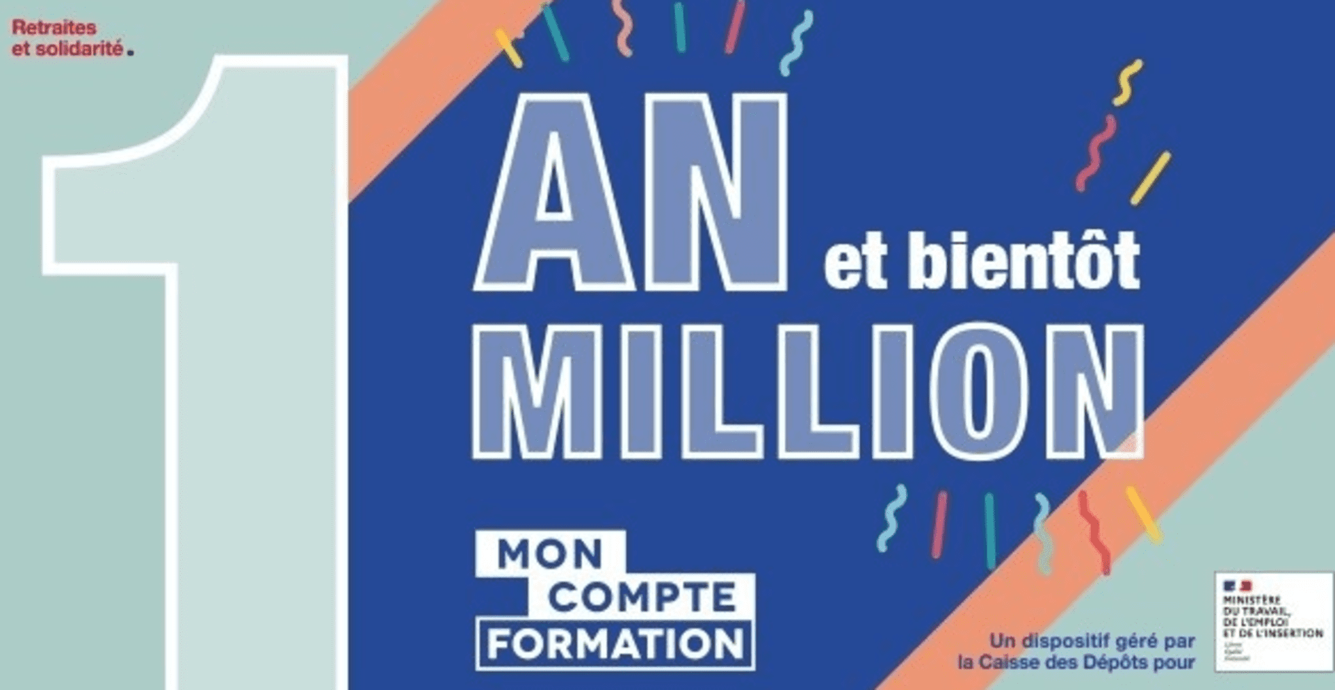 1 MILLION DE FORMATIONS FINANCÉES PAR MON COMPTE FORMATION EN 1 AN