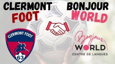 BONJOUR WORLD soutient le Clermont-Foot 63 dans toutes les langues!